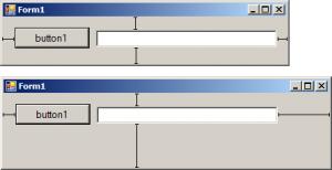 تاثیر Anchor پیشفرض با تغییر اندازه فرم